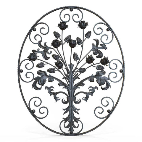 Gate Topper - Swirls - Cast Iron
