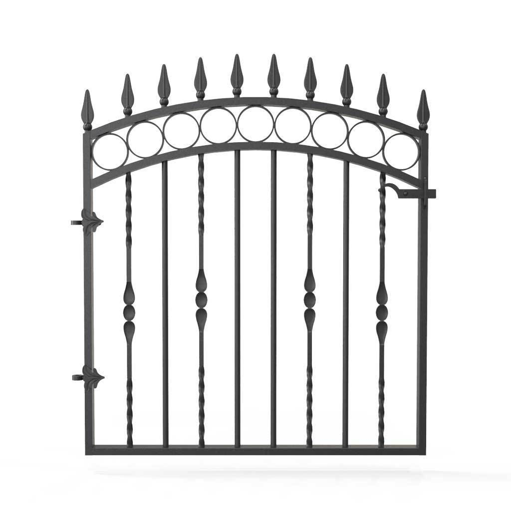 Superieur Garden Gate   Bristol   Style 5   Wrought Iron Metal Garden Side Gate With  Latch ...