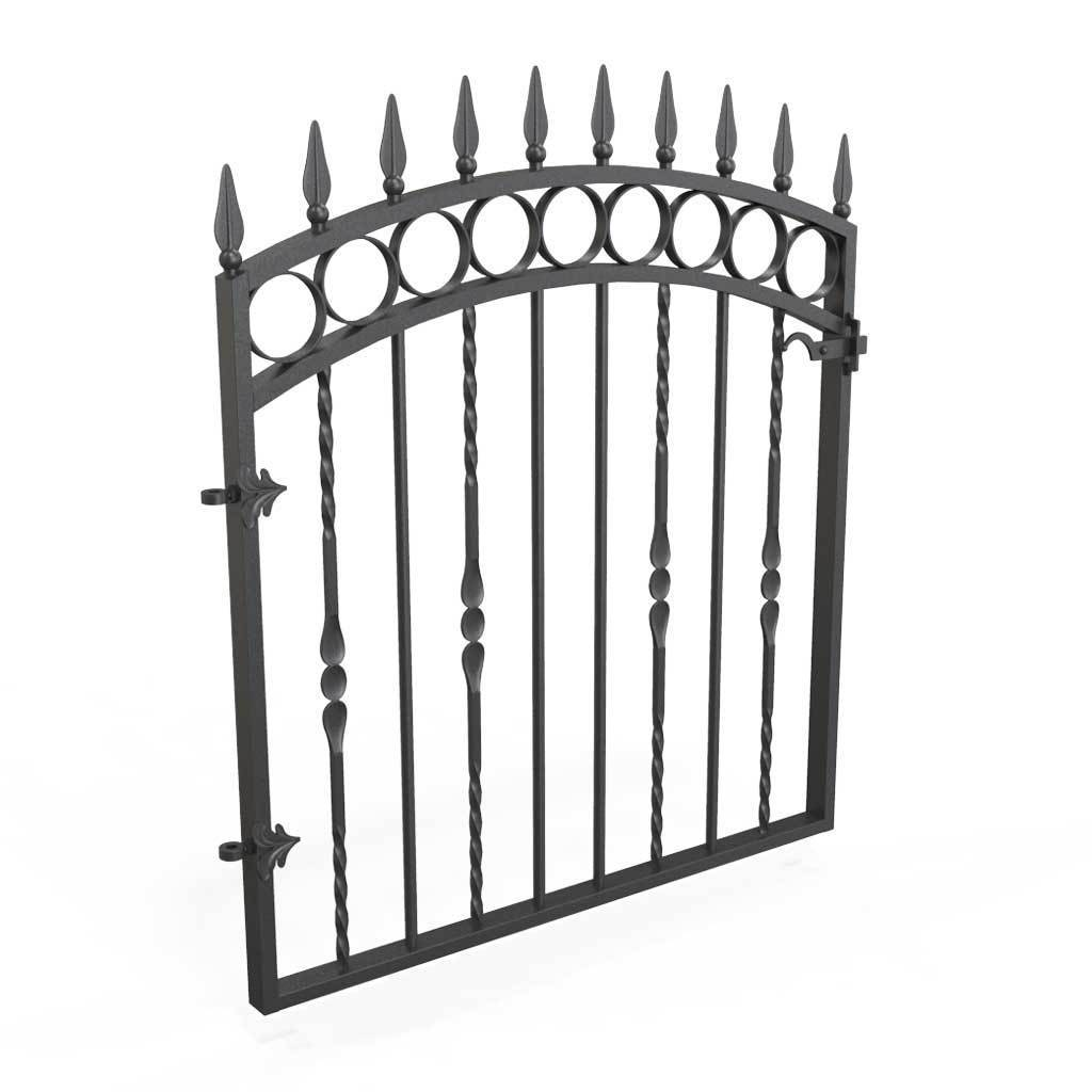 Garden Gate - Bristol - Style 5 -  Wrought Iron Metal Garden Side Gate With Latch