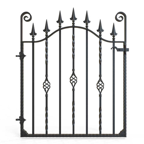 Devon - Style 11 -  Garden side gate with decorative lock