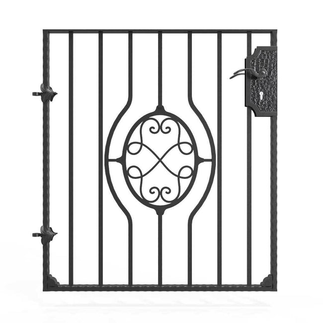 Garden Gate - Newquay - Style 9B -  Garden Side Gate With Decorative Lock