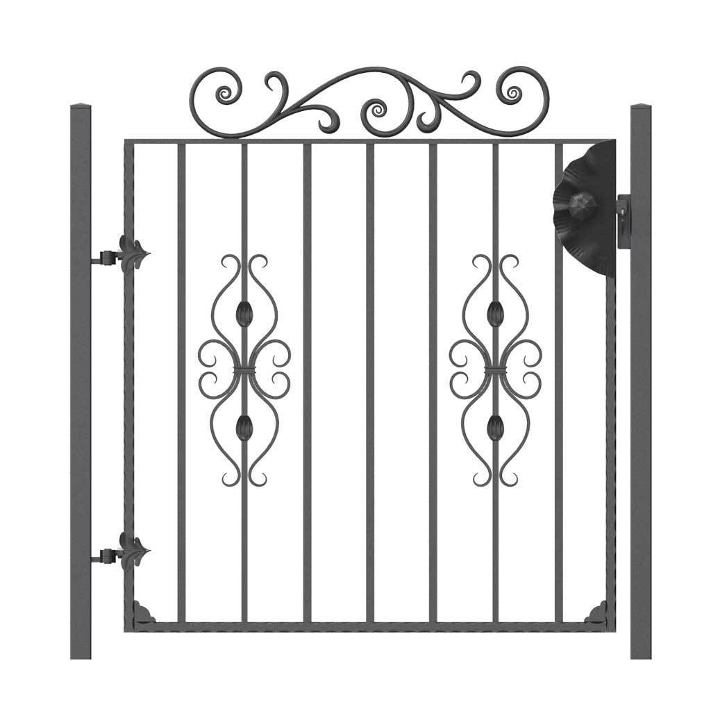 Garden Gate - St Albans - Style 7B -  Garden Side Gate With Decorative Topper And Latch