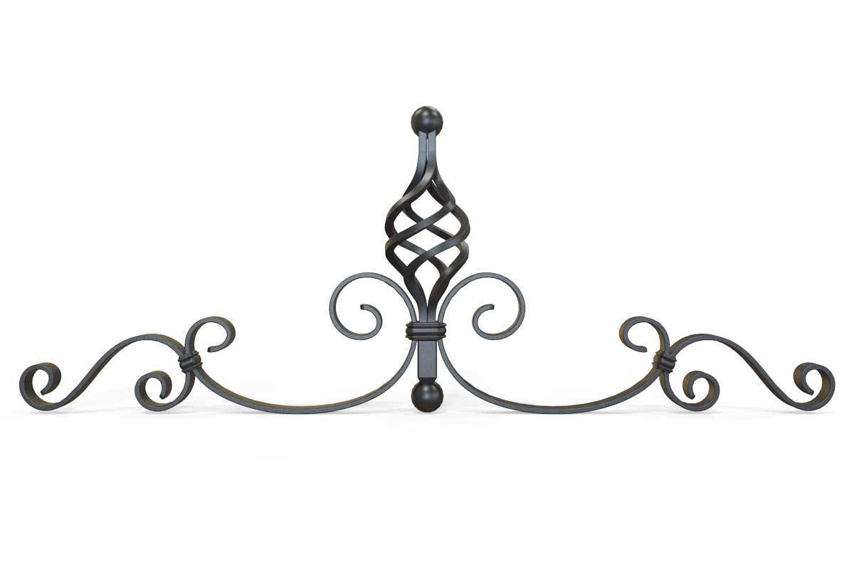 Gate Topper - Gate Topper - Decorative Basket - Iron