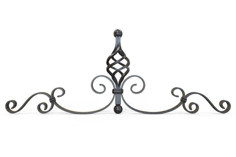 Wrought Iron Gate Topper - Ornate Flower