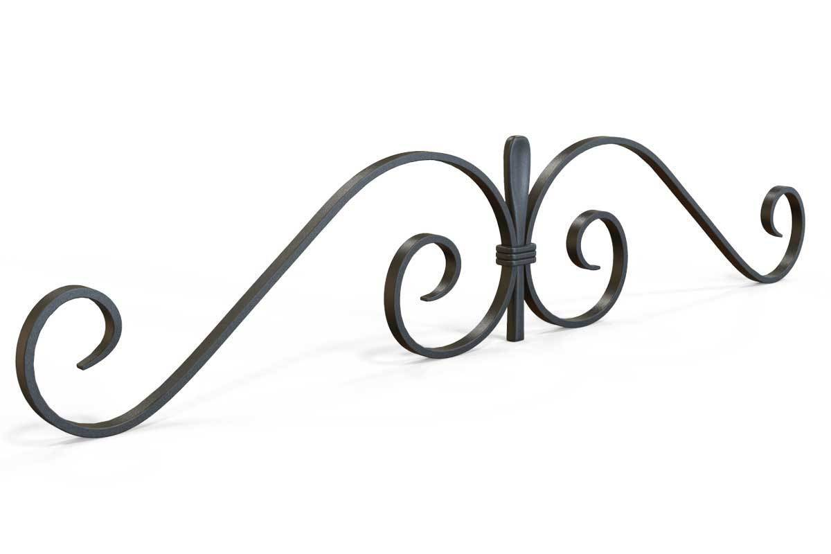 Gate Topper - Gate Topper - Swirls - Cast Iron