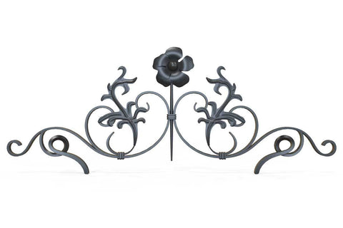 Gate Topper - Decorative Basket - Iron