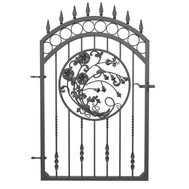 Gates - Marlow Style - Mid To Tall Gate - With Round Of Flowers Panel