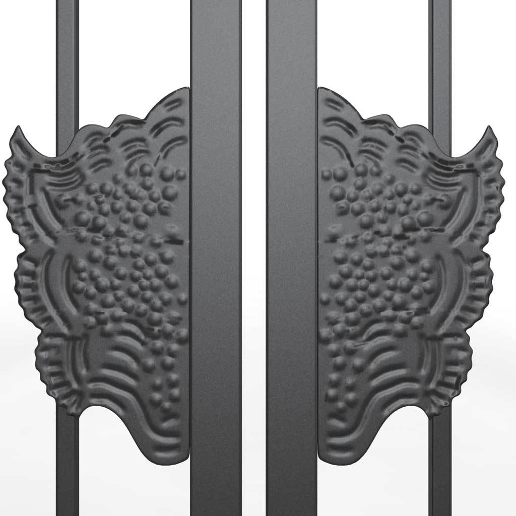 Locks & Latches - Decorative Steel Gate Lock Plate