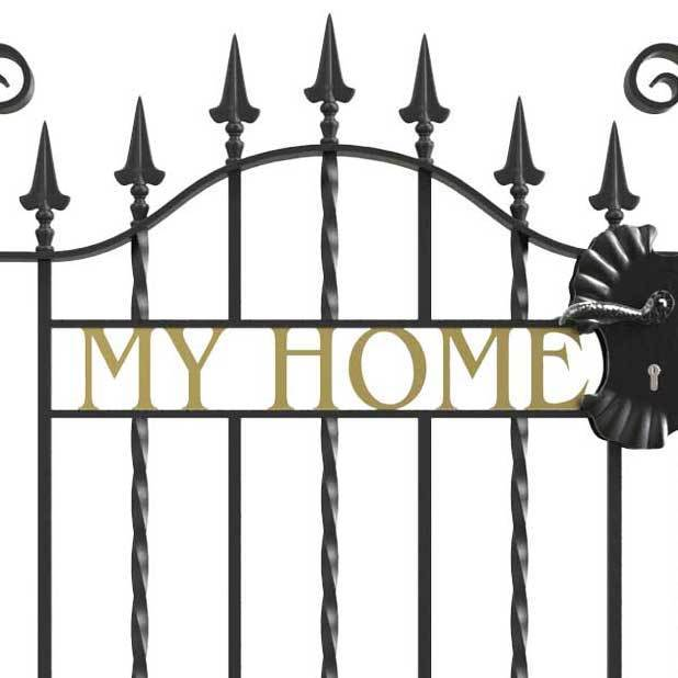 Cast Iron Numbers and Letters for wrought iron gates and