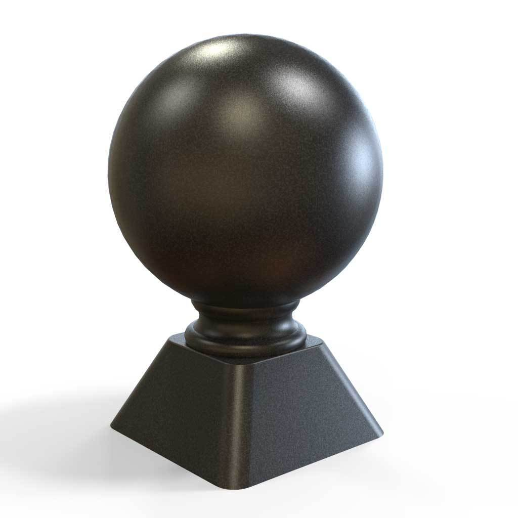 Post Tops - Post Top - Ball Top - Cast Iron - Square Base