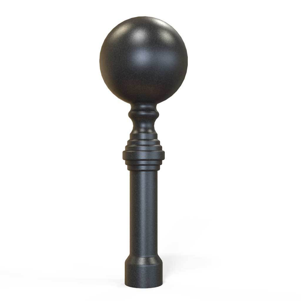 Rail Head - Rail Head - Ball Top - Cast Iron - Round Base
