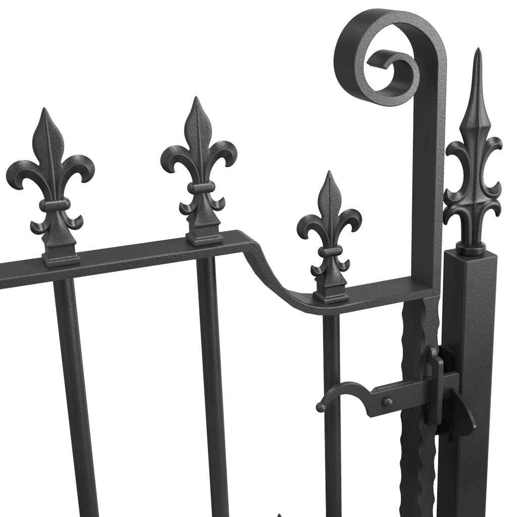 Rail Head - Rail Head - Square Fleur De Lis - Cast Iron - Square Base