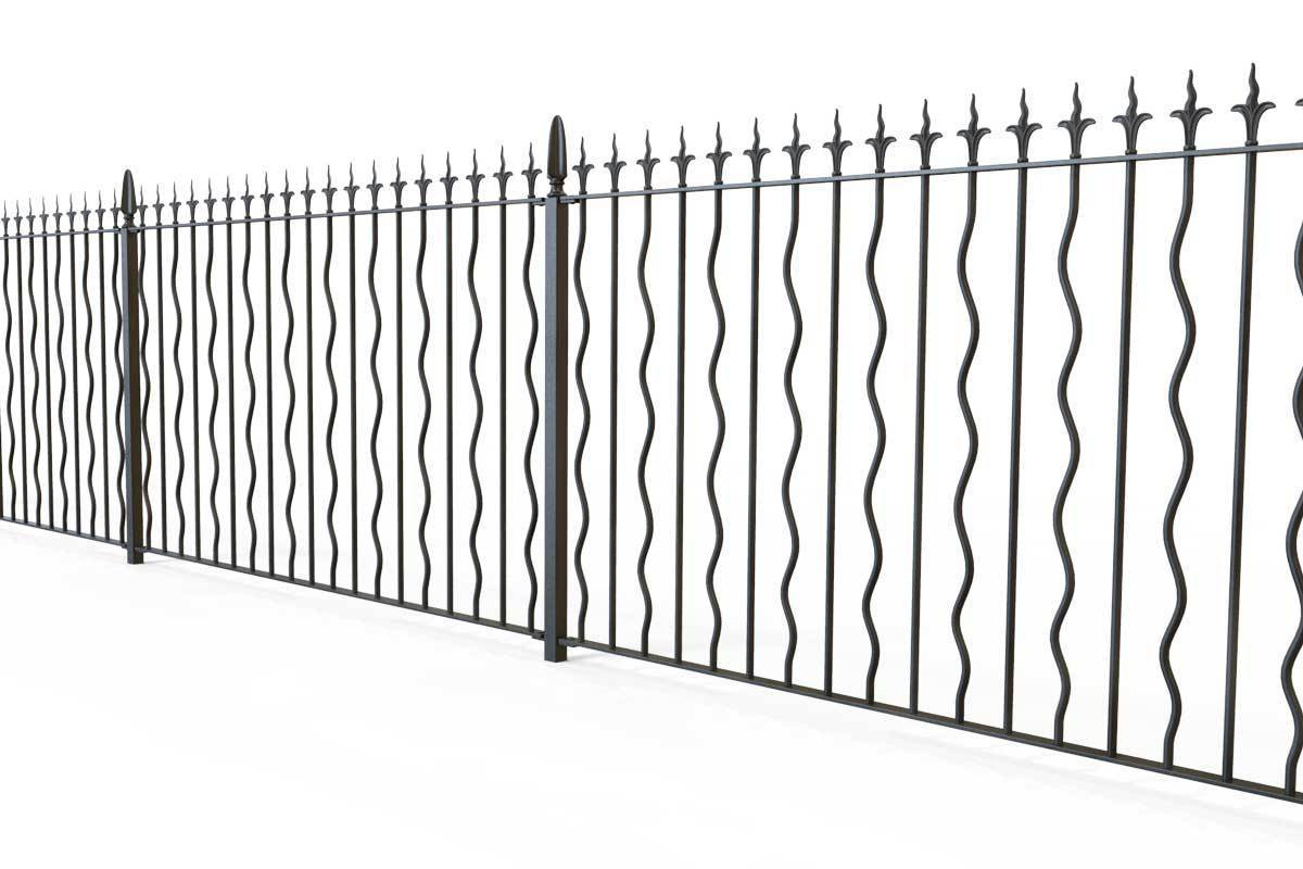 Railings - Devon - Style 27A - Wrought Iron Railing
