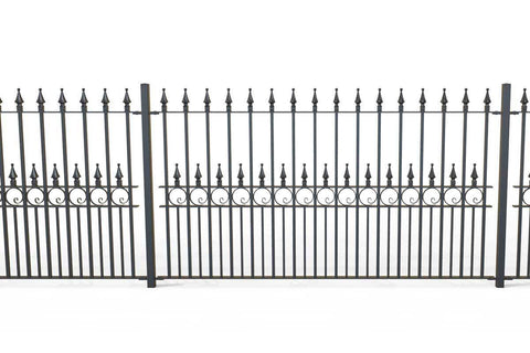 Pevmere - Style 20A - Wall Railing - With wrought iron Pomeroy decorative panels