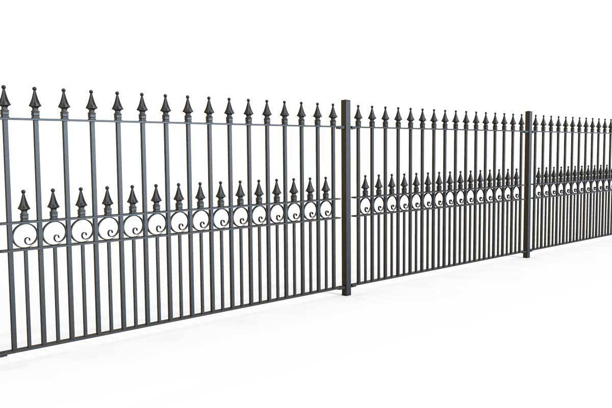 Railings - Exeter - Style 4 - Wrought Iron Metal Railing