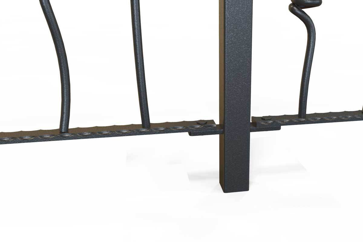 Railings - Glastonbury - Style 9 -  Wrought Iron Knotted Rails