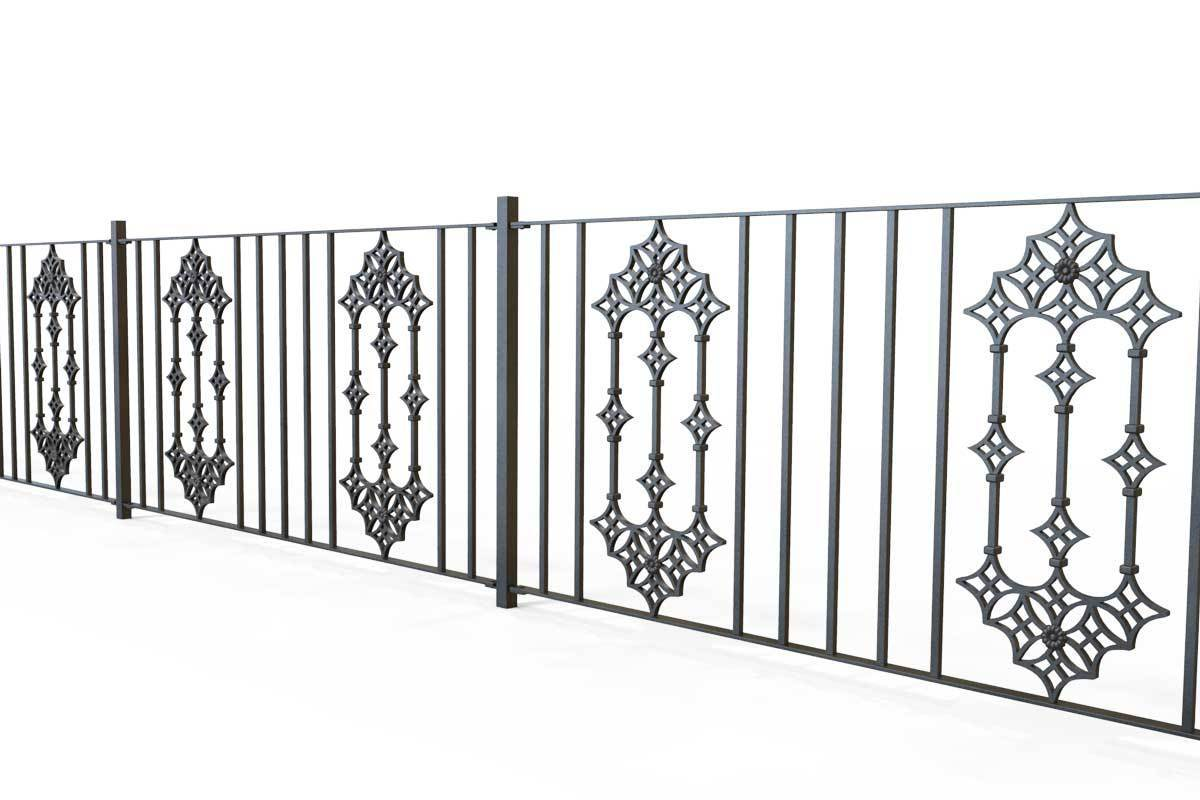 Railings - Gloucestershire - Style 23B - Iron Railing