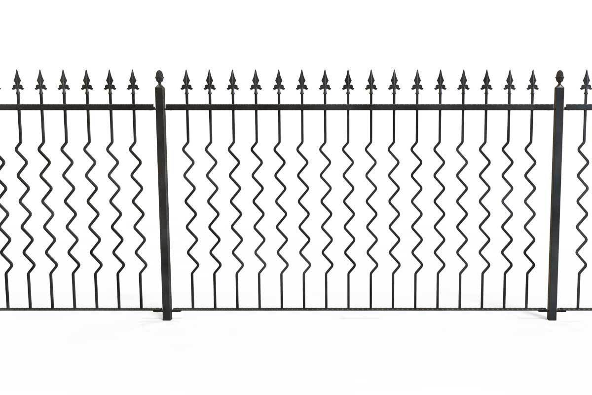 Railings - Marlow - Style 8 - Zig Zag Pattern Decorative Railing