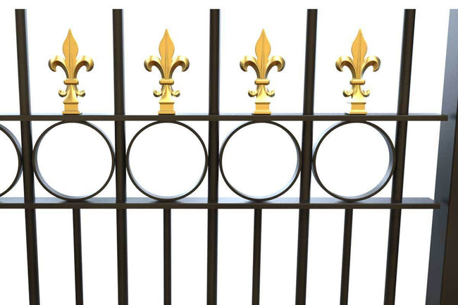 Railings - Salisbury - Style 3A - Wrought Iron Decorative Railing