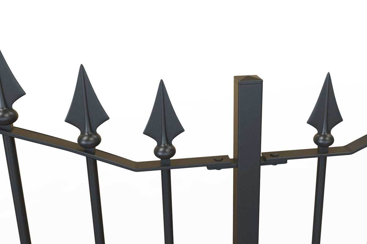 Railings - Somerset - Style 12A - Mendip - Wrought Iron Variable Height Railing