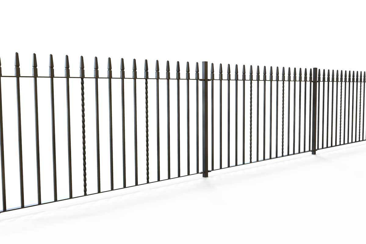 Railings - Swansea - Style 2A - Wrought Iron Railing