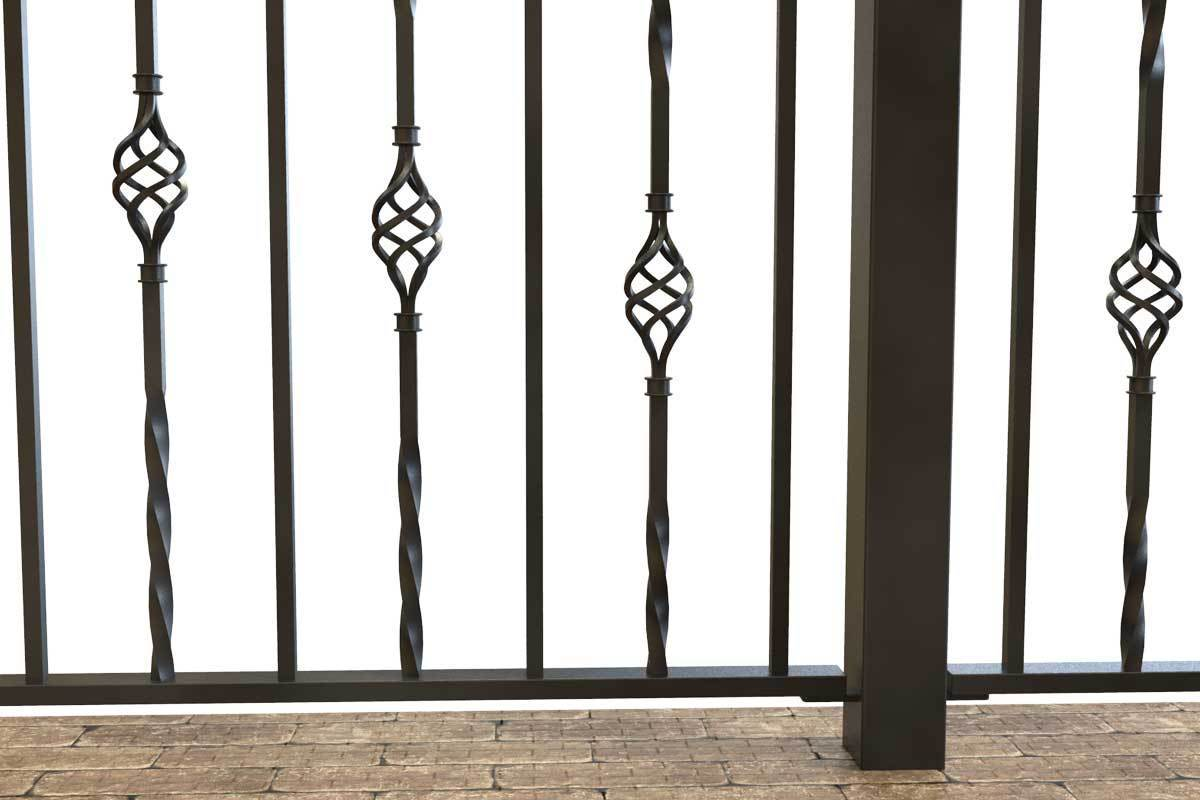 Railings - Wendover - Style 1A - Wrought Iron Railing