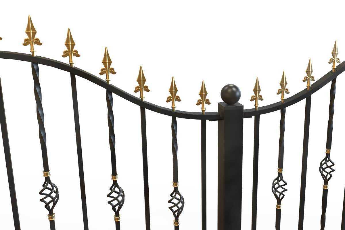 Railings - Wendover - Style 1B - Tall Wrought Iron Railing