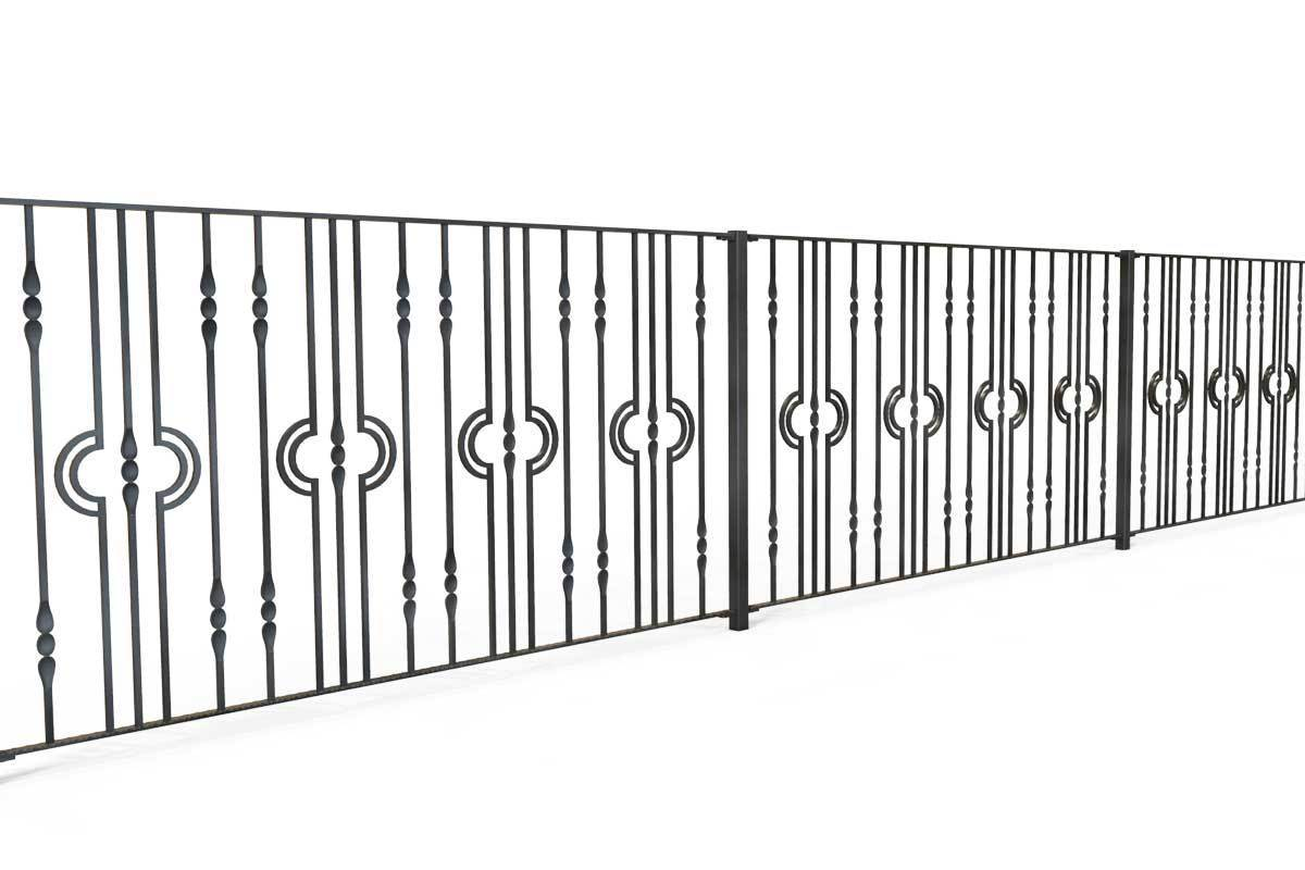 Railings - Wiltshire - Style 7 - Decorative Iron Fence