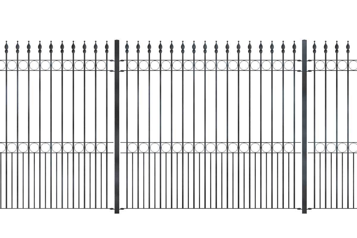 Tall Railings - Brixham - Style 10D - Tall Wrought Iron Railing