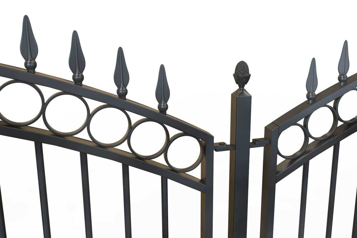 Tall Railings - Clifton - Style 11C- Tall Curve Top Wrought Iron Railing