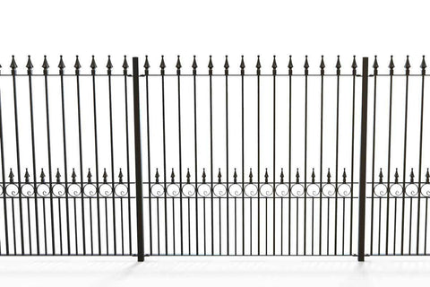 Canterbury - Style 16D - Tall Wrought Iron Railing with Hearts