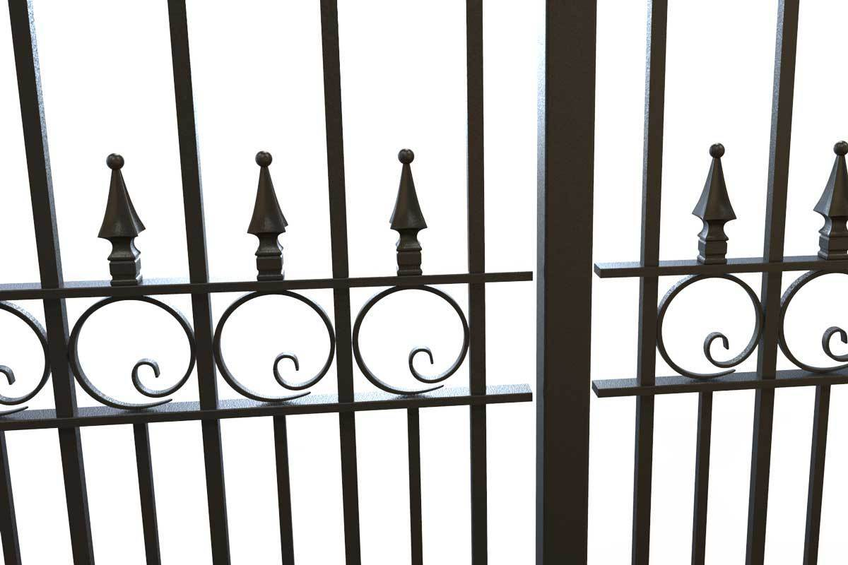 Tall Railings - Exeter - Style 4 - Tall Wrought Iron Railing