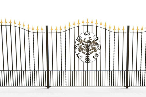 St Albans - Style 17B - Tall Wrought Iron Railing With Decorative Panels