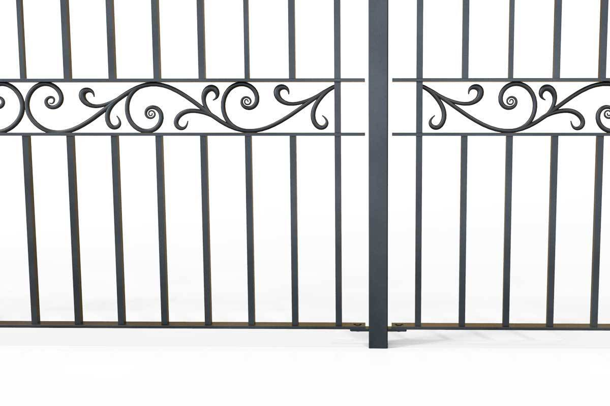 Tall Railings - St Albans - Style 17B - Tall Wrought Iron Railing With Decorative Panels