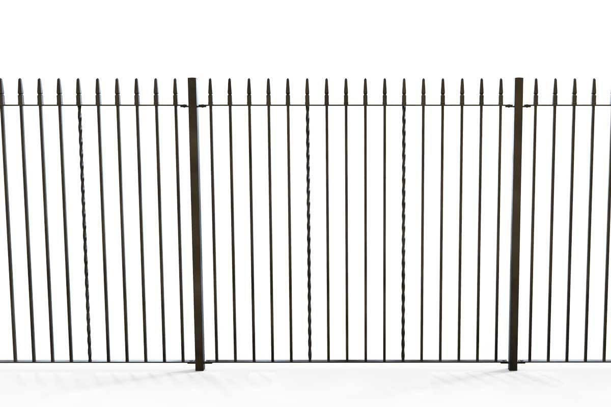 Tall Railings - Swansea - Style 2B - Tall Iron Railing