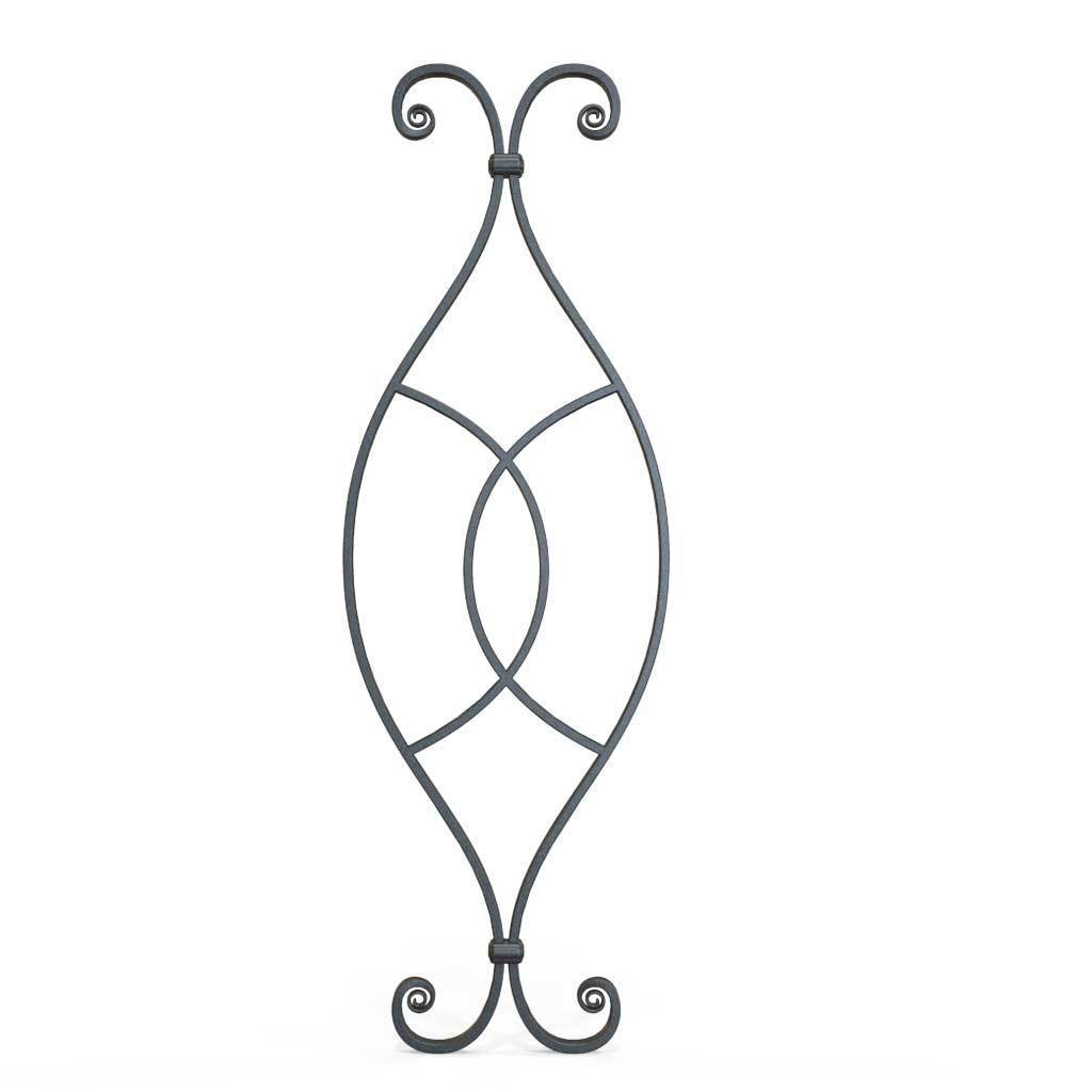 Tall Wrought Iron Side Gate - Clifton - Style 5A - Tall Wrought Iron Gate With Panels And Latch