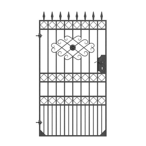 London - Style 3A - Tall wrought iron gate with latch