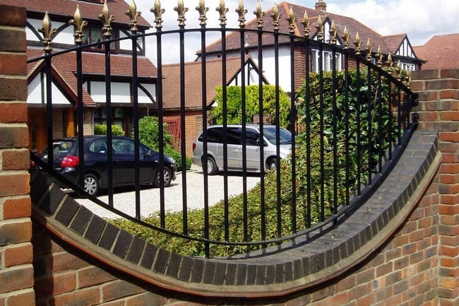 Wall Top Railings - Chichester - Style 5A -  Wall Railing -Bowed Bottom