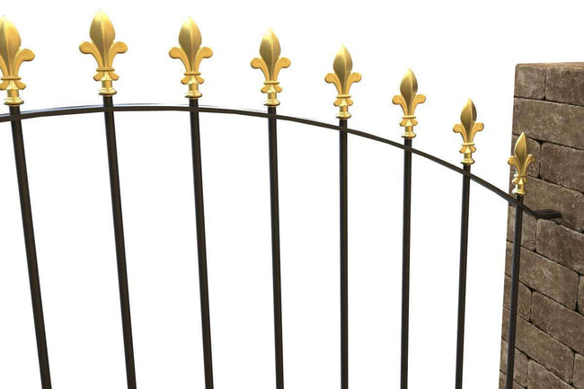 Wall Top Railings - Chichester - Style 5B - Wall Railing - Flat Bottom