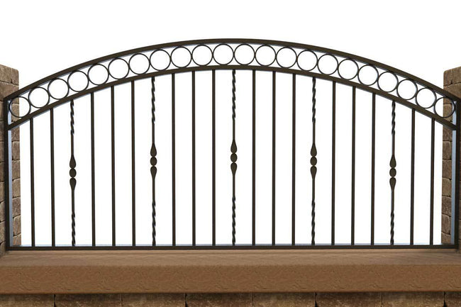 Wall Top Railings - Clifton - Style 11B - Wall Railing - Without Rail Heads