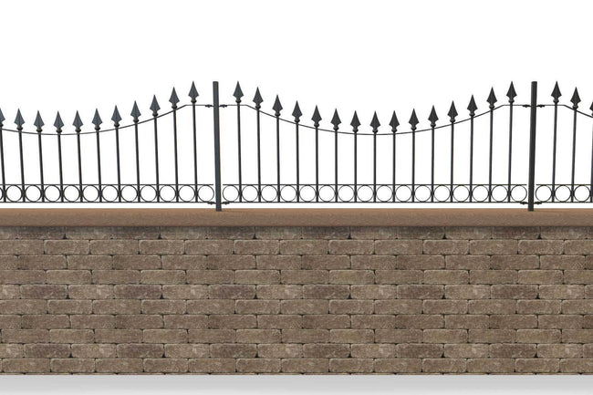 Wall Top Railings - Somerset - Style 12C - Wall Railing
