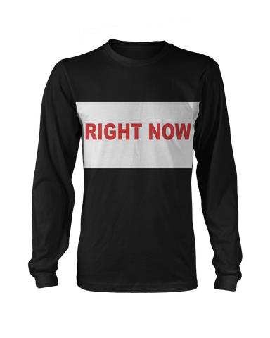 Right Now Longsleeve (Black/Red) + Digital Single