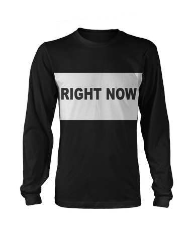 Right Now Longsleeve (Black/White) + Digital Single