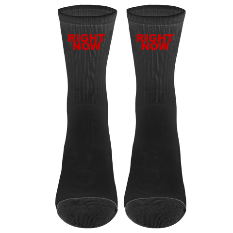 Right Now Socks (Black/Red) + Digital Single