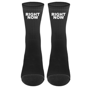 Right Now Socks (Black/White) + Digital Single