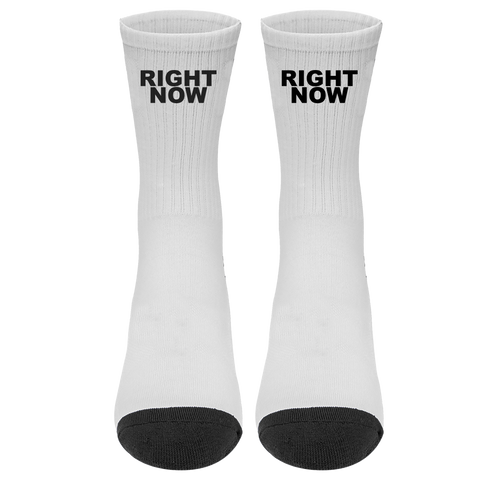 Right Now Socks (Grey) + Digital Single