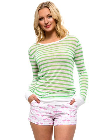 Striped Kelly Tee - Green/White