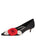 Womens Black Satin Bo Pointed Toe Kitten Heel Alternate View