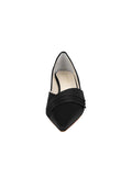 Womens Black Satin Brenna Kitten Heel 4