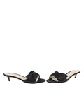 Womens Black Satin Butterfly 5
